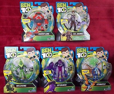 Ben 10 Upgrade Wildvine Overflow Stinkfly Dr. Animo Lot Of 5 Latest