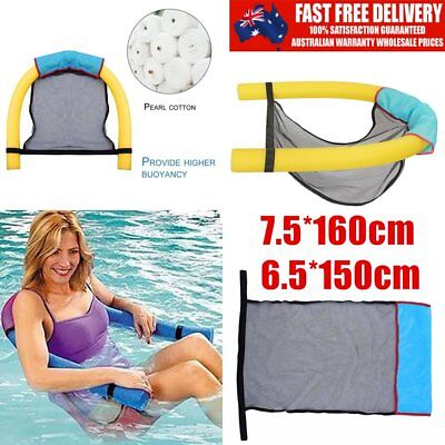 Portable Swimming Floating Chair Amazing Noodle Pool Mesh Super Buoyancy OK