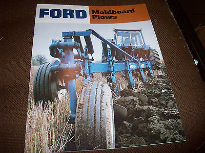 1970's Ford Moldboard Plow Advertising Brochure Nice 101 145 150 151 152