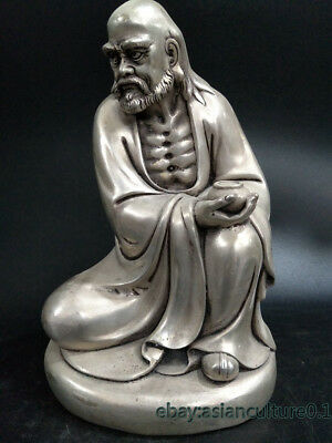 Decoration Collection  tibet silver copper handwork Bodhidharma Buddha statue