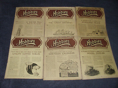 Job Lot Of Wartime Hobbies Weekly Magazines - 35 In Total In Good To Very Good C