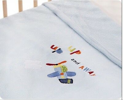 Kidsline 'Come Fly With Me'  Cot/bed Boa Fleece Blanket 150X120cme