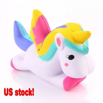 Cute Unicorn Squishy Squeeze Relieve Stress Slow Rising Kid Toy Decor Gift (USA)