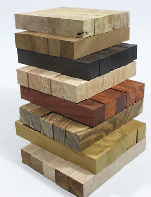 Selectable-A Pack Of 5 Wood Turning Blanks 127mmX20mmX20mm