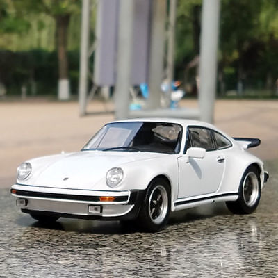 Porsche 911 Turbo 1974 Model Cars 1:24 Toys Collection&Gifts Alloy Diecast White