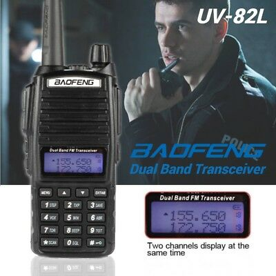 Baofeng UV-82L Dual PTT V/UHF 136-174/400-520MHz Ham Two Way Walkie Talkie