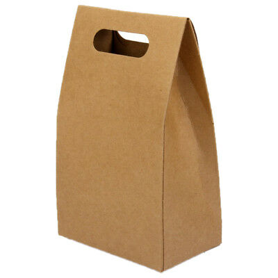 5pcs Kraft Paper Brown Lucky Party Gift Regal Goody Bags Cupcake Muffins Ca A0R8