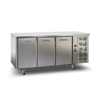 Commercial Italian Made 3 door Fridge Work Bench Under Bench 304 Stainless Steel