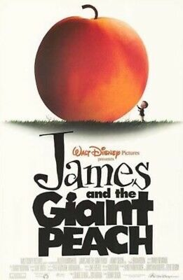 JAMES AND THE GIANT PEACH Original Movie Poster - Disney Double Sided 27x40 Mint