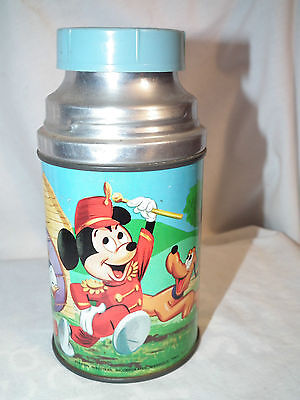 Rare Vintage Aladdin 1960 Mickey Mouse Club Metal Thermos No Cup