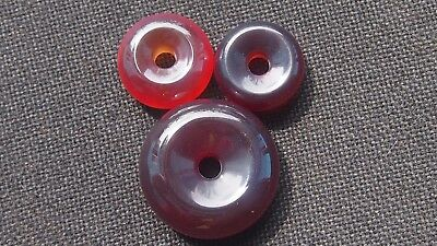 42 Gram 3 pcs Donut Pendant Indonesian Red Amber