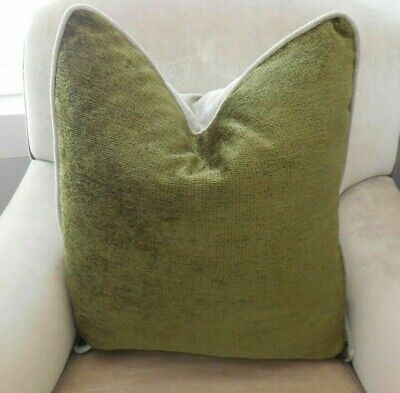 New TINY DIAMONDS Olive Green /& Berry FRINGED Cushion Covers Large Sq or Oblong