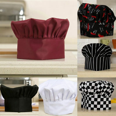 Men Women Comfortable Cook Adjustable Kitchen Baker Chef Elastic Cap Hat New