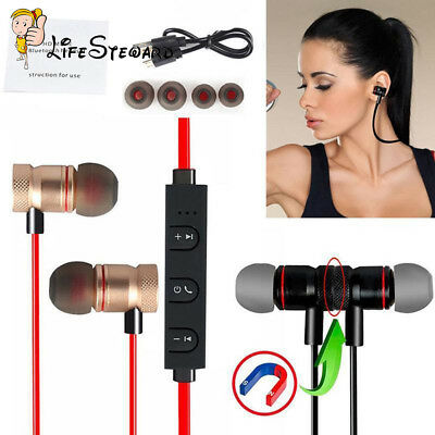 Bluetooth Magnet Wireless Sports Earphone Headset Headphone For IPhone/Samsung