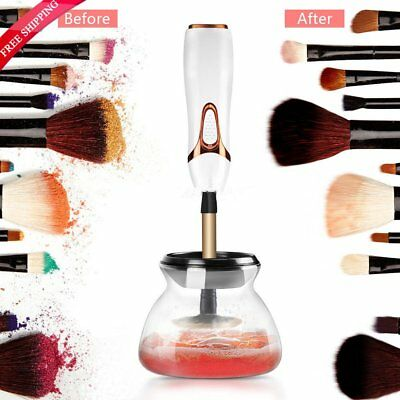 Electric Makeup Brush Cleaner And Dryer Set Includes Brush Collar Stand AU