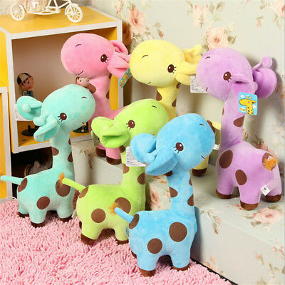 18cm Baby Kids Lovely Soft Giraffe Plush Toy Animal Doll Deer Birthday Gift