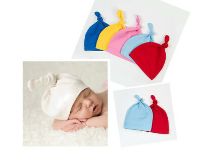 14 Colors Cotton Beanie Newborn Baby Knotted Hat Boy Girl Soft Cap Infant Toddle