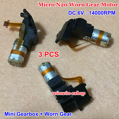 3PCS N20 DC 6V 14000RPM Micro Worm Gear Motor Mini Gearbox Speed Reduction DIY