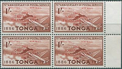 Tonga official 1962 SGO13 1/- Centenary of Emancipation block MNH