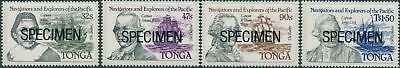 Tonga 1984 SG861-864 Navigators and Explorers SPECIMEN set MNH