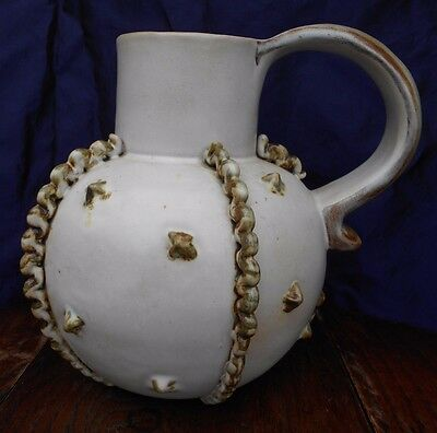 Bourne Denby Jug British Art Deco Tyrolean Pottery By Alice Teichner Height 23cm