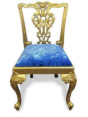 Magnificent Sets 8 To 14 Exquisite Gold Palace Chippendale Style Dining Chairs