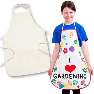 Joblot 45 x Childrens New Cotton Aprons - Craft cooking baking painting