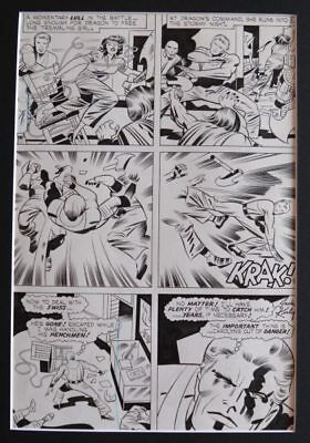 Board Original by Jack Kirby for Kung fu Fighter