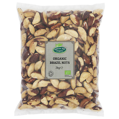 Organic Whole Brazil Nuts 2kg Certified Organic