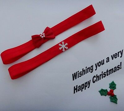 2 Christmas baby headbands- different sizes available-**LIMITED OFFER**