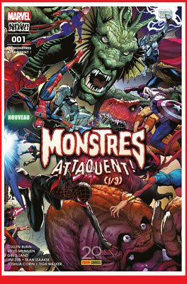 LES MONSTRES ATTAQUENT 1 01 Oct 2017 Marvel Now! now Panini Mc NIVEN # NEUF #