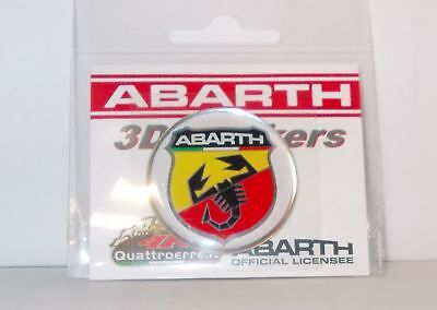 Adesivo 3D Abarth D.44 Mm Logo Tondo Stemma Decalco Stickers