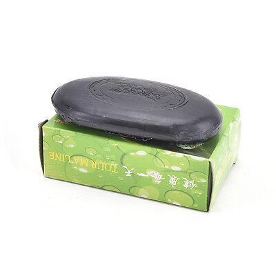 Black Bamboo Charcoal Soap Face Body Clear Anti Bacterial Tourmaline Soap JS
