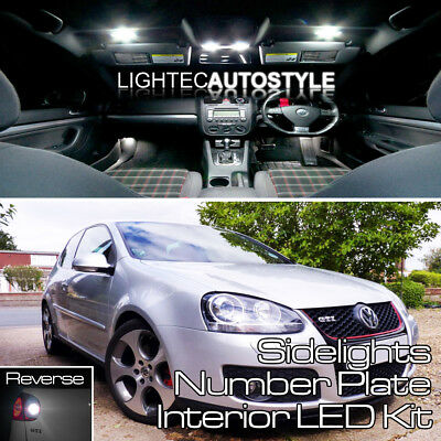 VW GOLF MK5 18/pcs FULL LED INTERIOR LIGHT KIT SET PURE WHITE CANBUS ERROR FREE