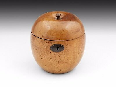 Antique Treen Apple Tea Caddy