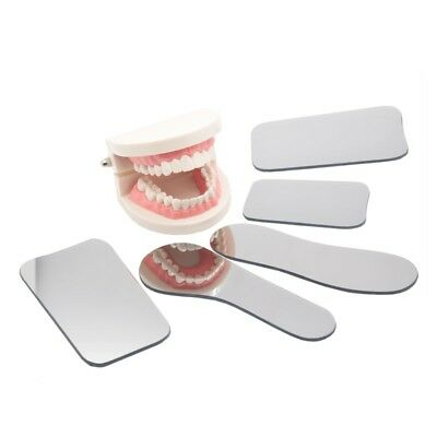 5pc Dental Orthodontic Oral Intraoral Photographic 2-sided Rhodium Glass Mirrors
