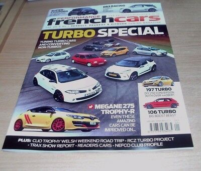 Performance French Cars magazine JAN/FEB 2018 Turbo Special, DS3 Racing, Megane