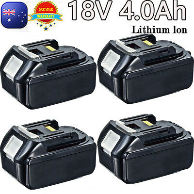4X 18V 4.0Ah Battery for Makita BL1830 BL1815 BL1840 LXT Lithium Ion Cordless OZ
