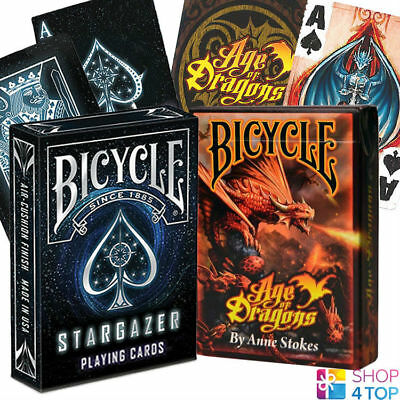 Age of Dragons Bicycle Playing Cards Poker Size Deck USPCC Anne Stokes Custom
