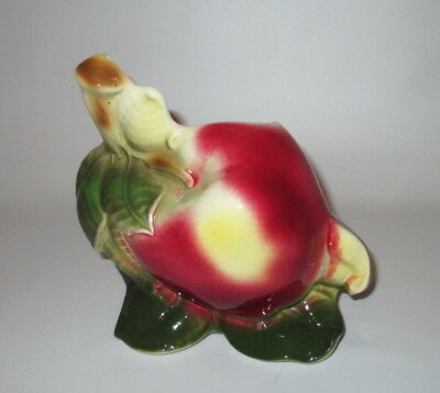 Royal Copley Big Apple Wall Pocket Planter Signed USA Pottery 5 1/2""
