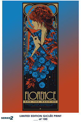 RARE POSTER: music FLORENCE AND THE MACHINE 2015 vintage DEALER REPRINT #'d/100