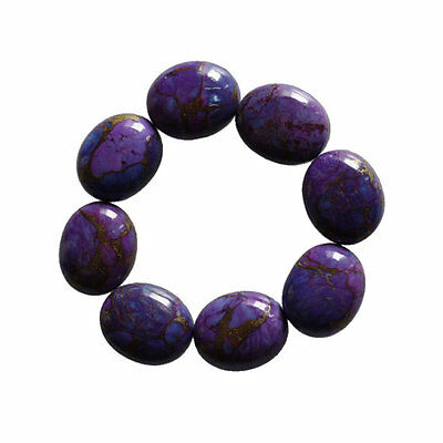 Purple Copper Turquoise 16X12MM Oval Shape, Calibrated Cabochons AG-216