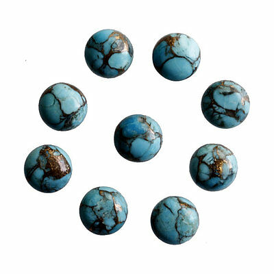 18MM Round Shape, Blue Copper Turquoise Calibrated Cabochons AG-233