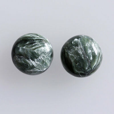25MM Round Shape, Seraphinite Calibrated Cabochons AG-234