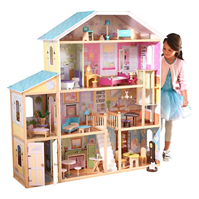 KidKraft Majestic Mansion Dollhouse with 34 Accessories Toys Dolls Play Sets