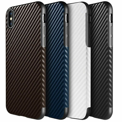 Shockproof Ultra Slim Carbon Fiber Soft Rubber Case Cover For iPhone XR 8 7 Plus