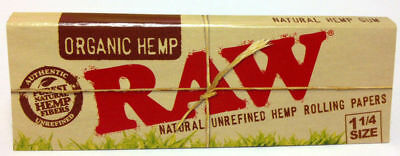 1 Pk Raw Organic Hemp Natural Unrefined 1.25 Rolling Papers 32 Leaves 3215