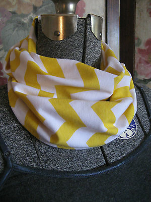 Yellow Baby TODDLER Child zigzag Chevron jersey knit Infinity Scarf photo prop
