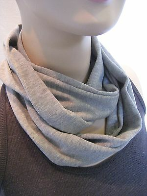 Baby TODDLER Child solid Heather Gray Grey jersey knit PHOTO PROP Infinity Scarf