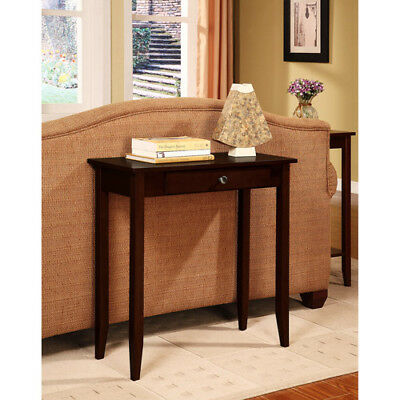 Console Table Wood Rntryway Sofa Furniture Accent Drawer Living Coffee Brown